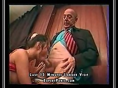 Young girl and Grandpa cum on pussy