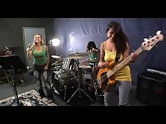 Girls Fuck a Rock Band at their Rehearsal. enjoy