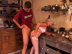 He has anal sex with a slutty granny