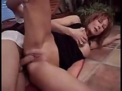 Redhead Milf At A Party Eats His Cock And Then Gets Pounded