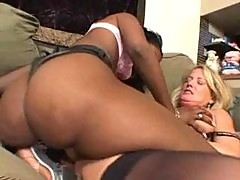 White Milf has fun with a black girl