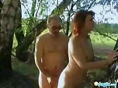 Curly Blonde Milf, Olya, Fucking Outdoors With Her Husband