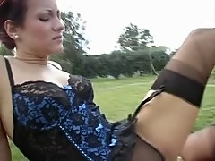 Nylon sex Threesome 2 f 1m