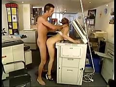 Couple Takes A Break At Work And He Fucks Her Over The Copy Machine