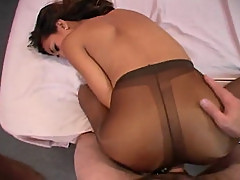 Dark girl in pantyhose