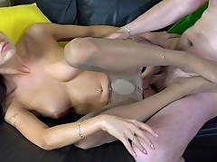 Doris&Adam nylon footfuck video