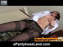 Nora B pantyhose tease movie
