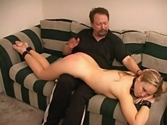 Crystal gets spanked hard!