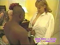 Blonde and red head eat by bbc threesome part1