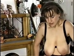 Saggy Titties Milf in Stockings Fucks