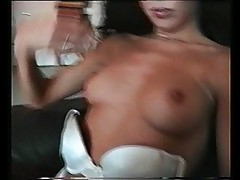 Curly slut blows and gets fucked