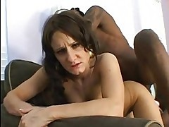 Small breasted brunette gets her slit pumped by massive blac...