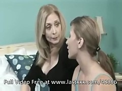 Nina Hartley retro strap on lesbian sex