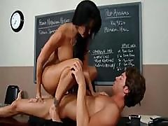 Amazing Brunette Teacher Ava Adams Sucks And Fucks Student
