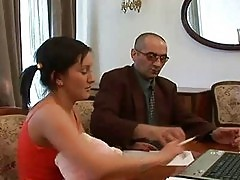 Handsome fellow bangs his girl