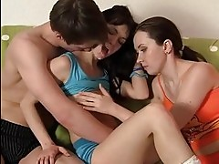 Threesome Fuckfest At The College Dorm