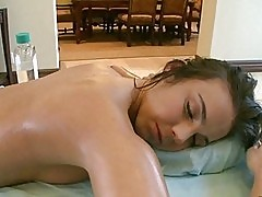 Sexy brunette sucking and gets fucked hard
