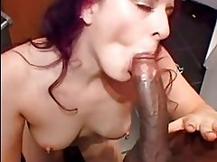 Alluring Caroline Pierce swallows a massive dick before gett...