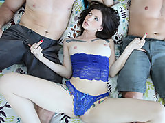 Two horny girls start orgy to get revenge on their cheating BFs