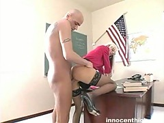 Lovely blonde fucked by her teacher