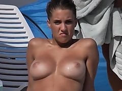 Beach Girl Topless from Spain