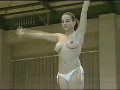 Softcore - Topless Gymnast with great tits
