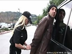 Blonde Officer Shyla Stylez Fucking a Big Speeding Dick