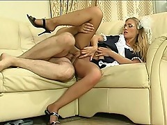 Diana&Lesley uniform pantyhose sex video
