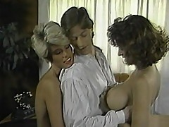 Two lovely dames get dirty with stud on table