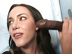 Aline Audrey at a Gloryhole