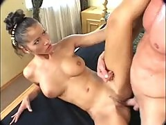 Angel Dark in creme outfit assfucked