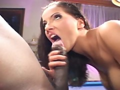 Angel Dark threesome with 2 black guys