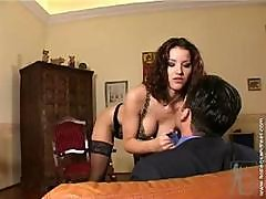Brunette Angel Dark Seduces This Hard Cock And Dances Before Fucking