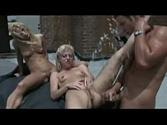 Angela stone and aurora snow hard time with guard