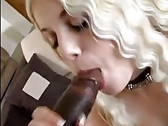 White chick Charlotte Stokely eagerly cliding her mouth on a...