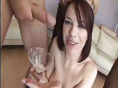 Dana Dearmond drinks jizz shots