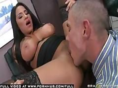 Jenaveve Jolie Gets Screwed In The Office By Her Assistant With A Shaved Head