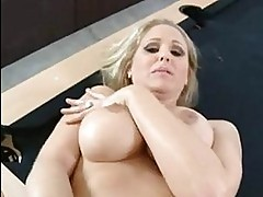 Luscious mom Julia Ann gets her pussy stabbed by a monster p...