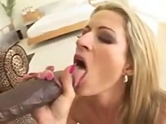 Karina Kay swallow black cock cum