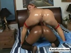 Katja kassin and kandice - oiled up lesbian sluts