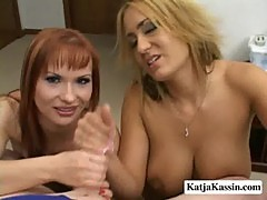 Katja kassin and trina - katja and trina shares on cock