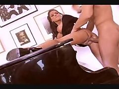 PIANO FUCKING BIG TITTIE BRUNETTE FOR HER ASS CANDY