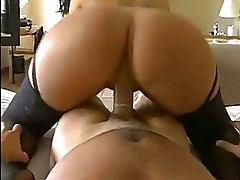 Massive round ass Olivia OLovely rides a big hard boner cowg...