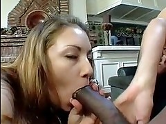 Sultry latina Olivia OLovely shares a big black cock with he...