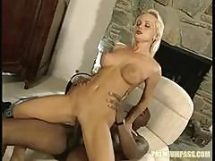 Silvia Saint Is A Petite Blonde Hottie Who Gets A Beastly Black Dick To Fill Her Holes