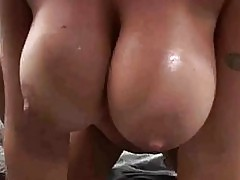 Velicity Von huge tits shake as she bounces hot twat on stil...