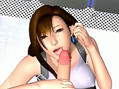 Sweety 3D hentai babe swallows cock