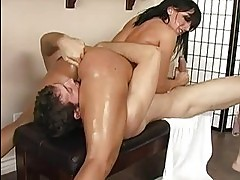 Hor busty brunette with big ass doing 69 and blowjob with a ...