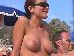 Camera at the nude beach films hotties