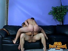 Cute Arab hooker gets two dicks